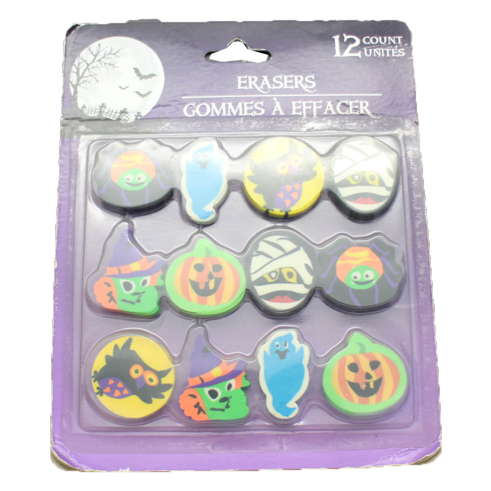 ER-R010 ERASER 12 PCS Halloweens ERASER SET Featured Image