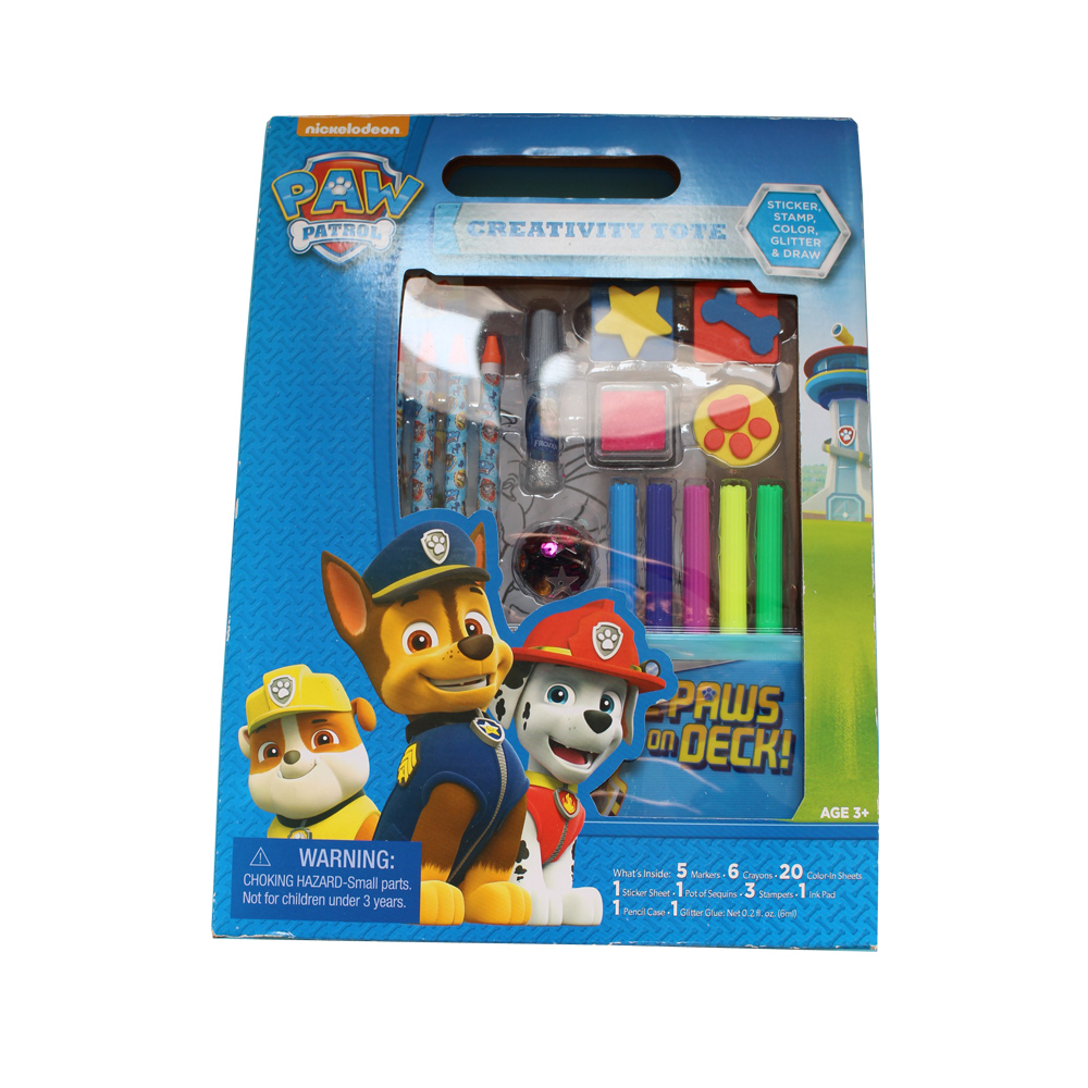 Creativity Colour-in Drawing Set for kids With Sticker/Stamp/Color Glitter