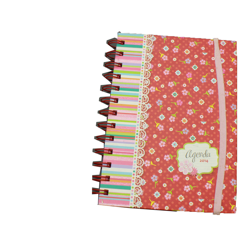 NB-R049 A5 promotional custom spiral hardcover notebooks with elastic band