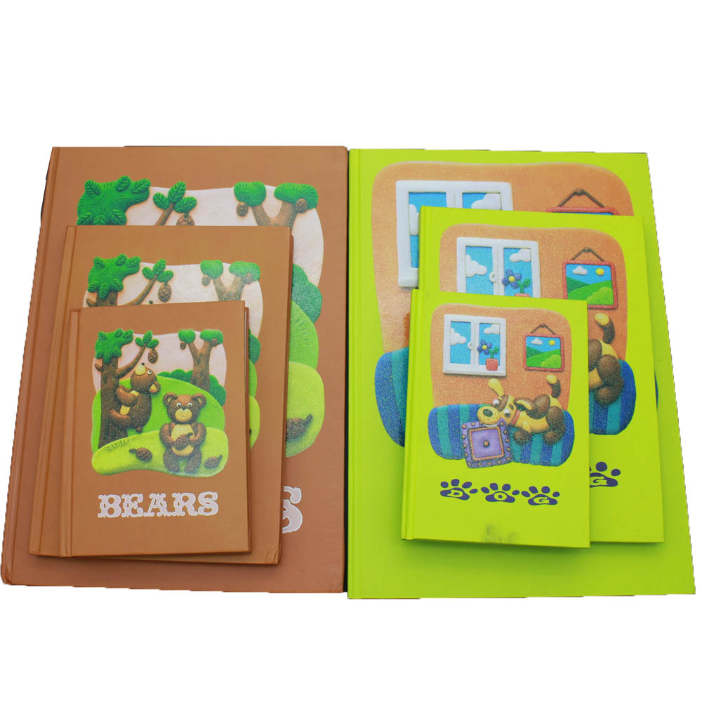 Professional batasan opisina ug school stationery gahig notebook set A4, A5, A6 gidak-on