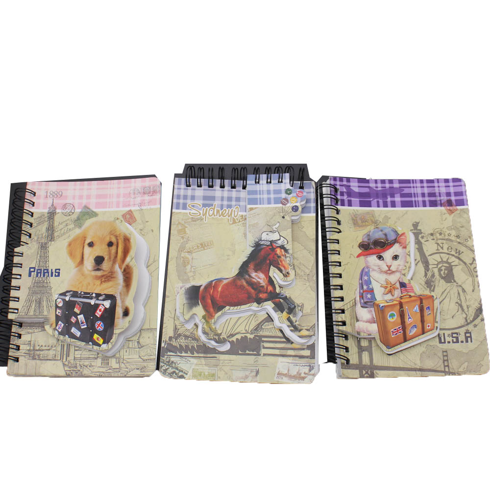 Short Lead Time for School/promotional/office Stationery Set - NB-R027 Novelty special design die-cut drawing notebook – Ricky Stationery