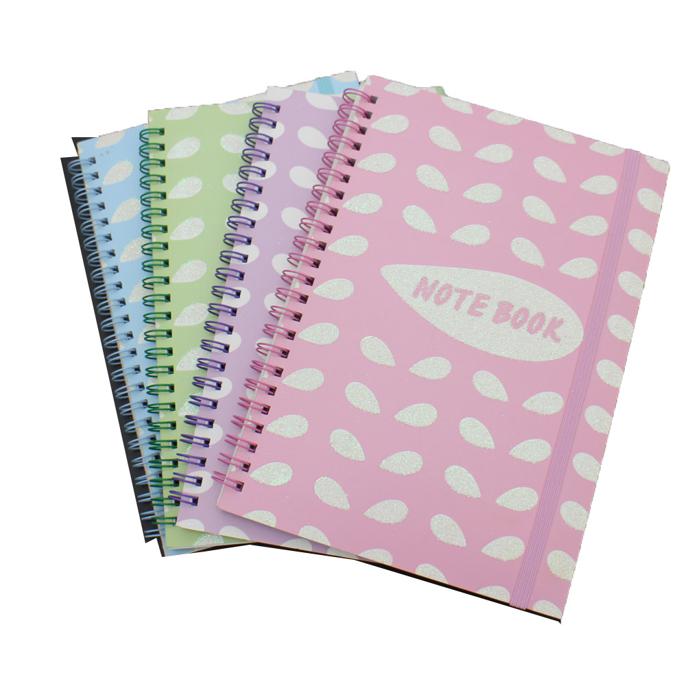 NB-R039 school notebook sa spiral, Eco mahigalaon brown nga papel notebook, Giimprinta spiral Notebook