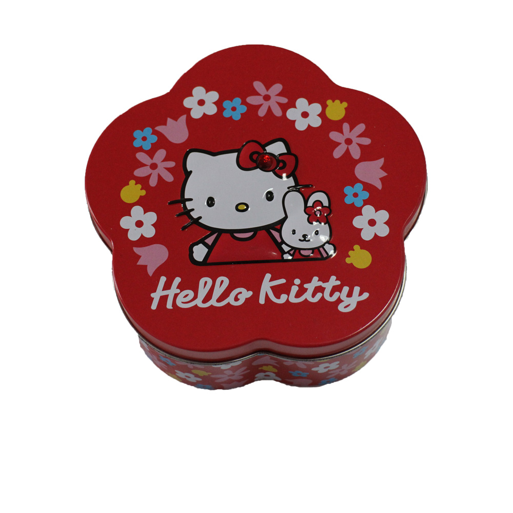 High Quality for Kids Stationery Set Products - Flower shaped chocolate gift tin box; small tin box custom logo tin box – Ricky Stationery