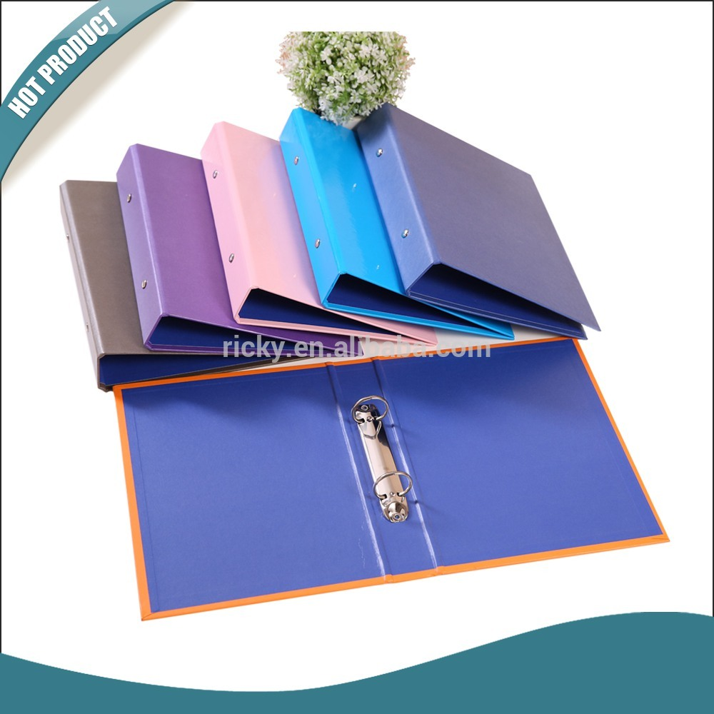 Ricky FF-R014 Top Grade Quality Customized A4 paper cardboard 2 ring binder