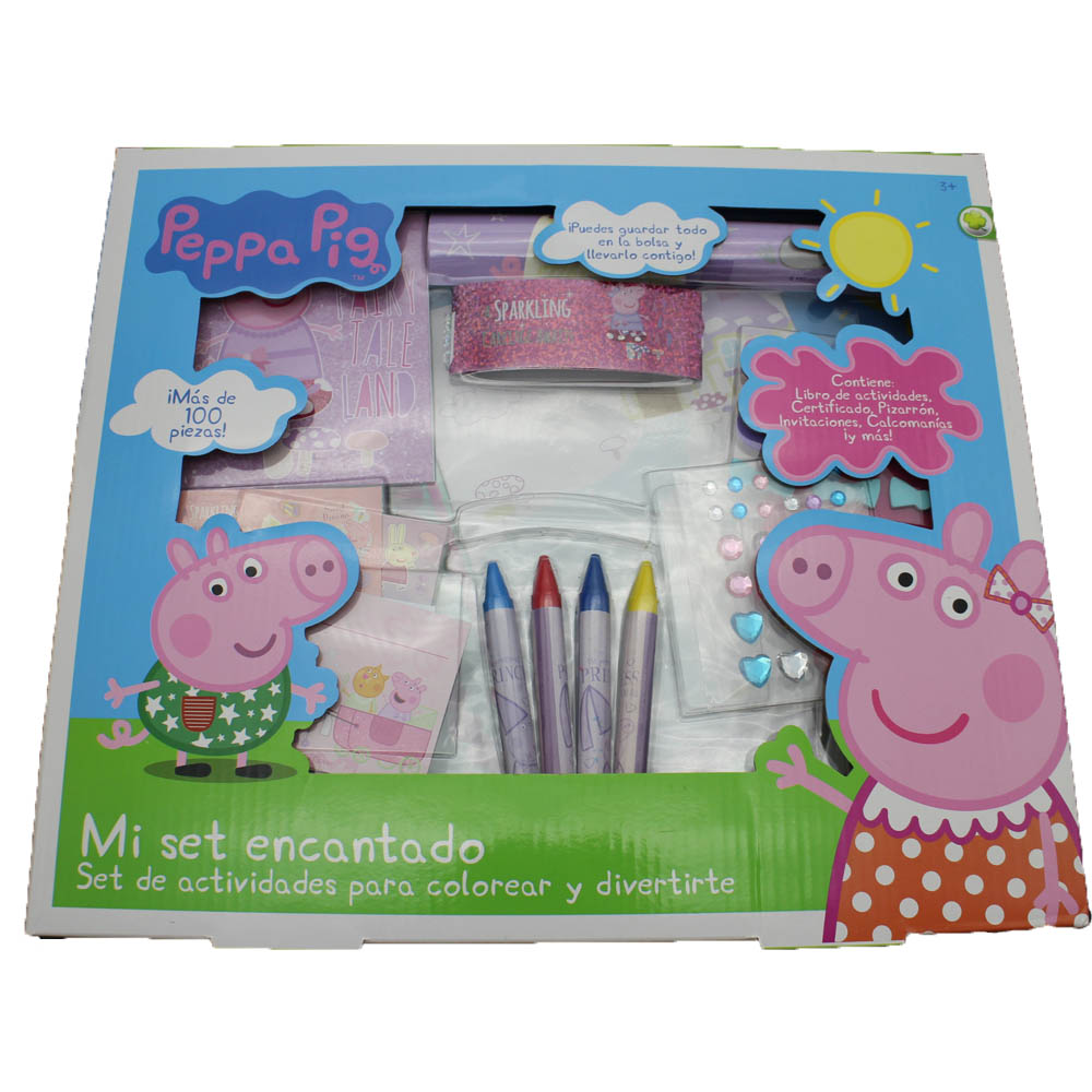 Professional peppa pig coloring stationery set for kids