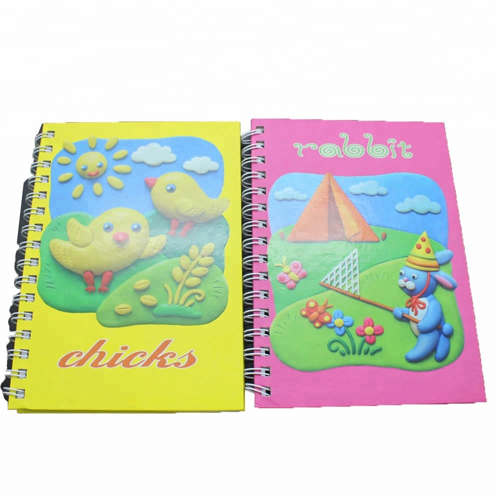NB-R002 2015 high quality spiral bound hard cover notebook with UV vanish