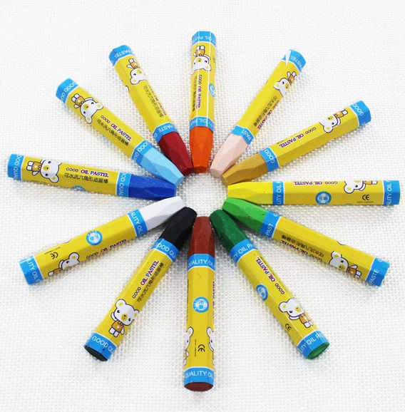 pencil crayons wax Crayons set multicolor crayon pen packed in color box custom your logo
