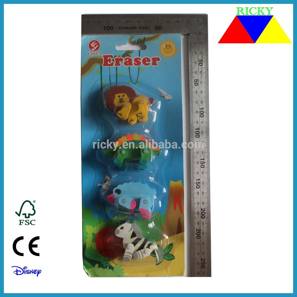 ER-R005 3D ERASER IN ANIMAL SHAPE
