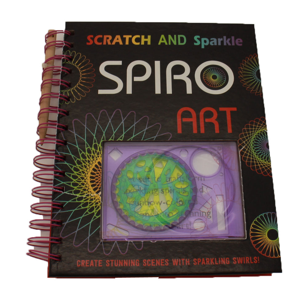 NB-R085 Scratch and Sparkle Spiro art set creating stunning scenes with sparkling swirls !