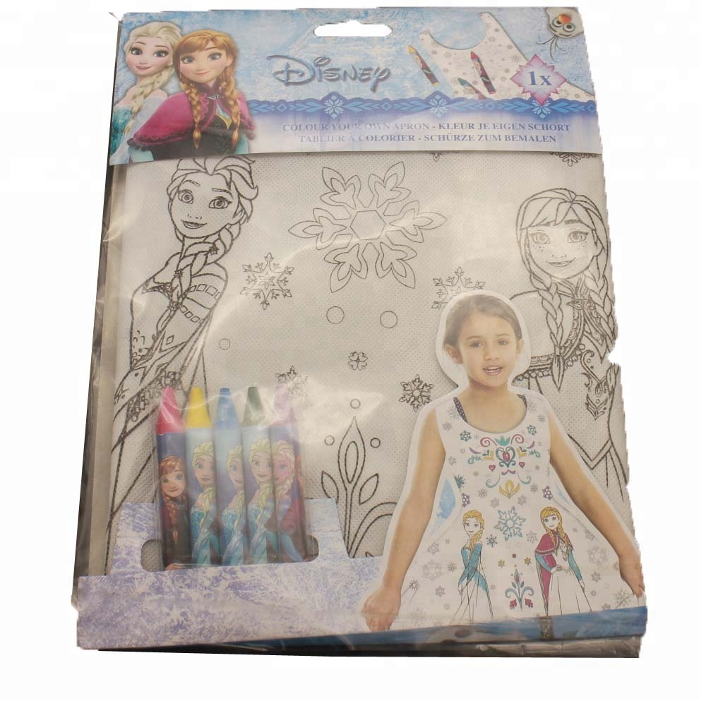 coloring apron for children, have fun and get creative
