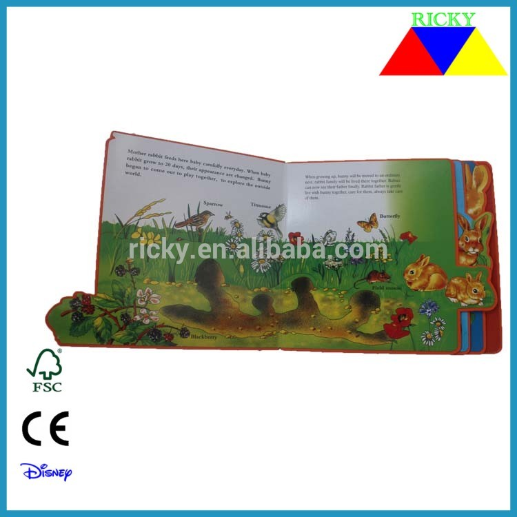 NB-R084 Eco friendly children's colorful EVA story book