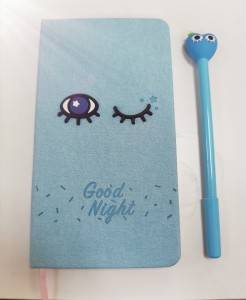 Note book with heart pen