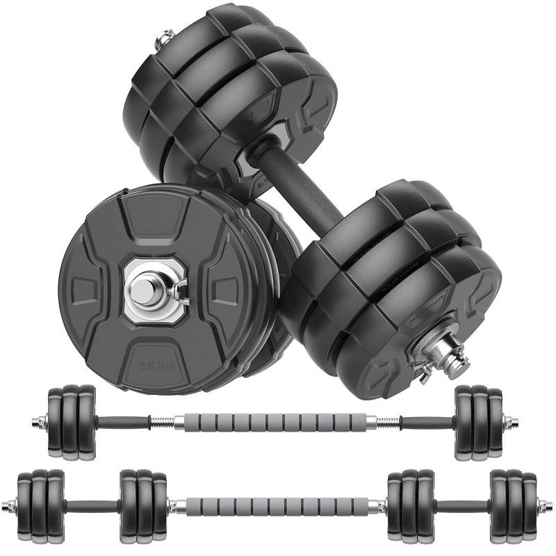 Adjustable Dumbbells Barbell Set of 2 Free Weight Set with Steel Connector at Home