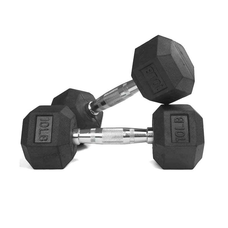 Hex Dumbbell Heavy Weights Barbell Matal Handles for Strength Training Home Gym Exercise Equipment