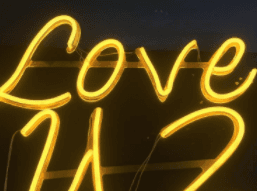 Custom OEM Led Light love Neon Sign Outdoor Light Letter Neon Sign