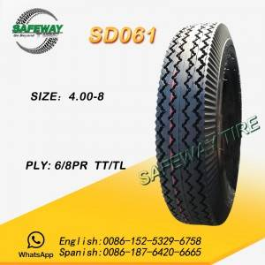 TRICYCLE TIRE SD061 400-8 3.5KG TT