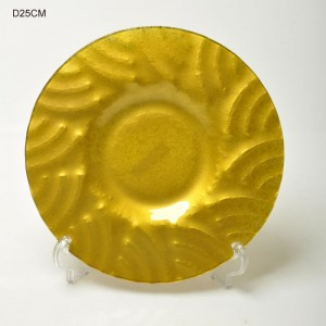 Plain Color Glass Plates