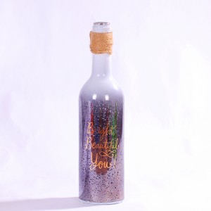 Laying Wine Bottle Decoration Glass Light