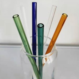 Multi-color Pyrex Glass Straw