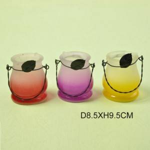 Frosted Color Gradient Candle Holder