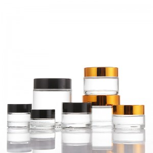 Clear Glass Straight Sided Cream Jar
