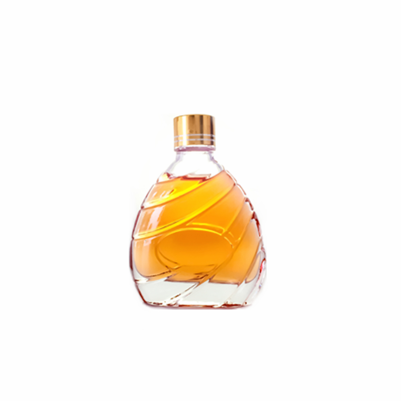 Flat Glass Liquor Bottle with Oblique Pattern Featured Image