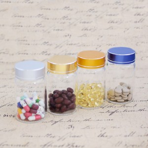 Borosilicate Tube Vials With Brushed Metal Flat Top Screw Cap (D55)