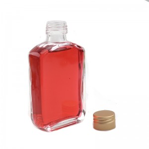 100ML Flat Square Liquor Bottle