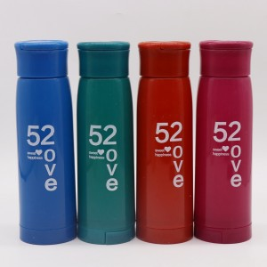 380ML Dark-color Glass Drink Bottle with Handle and Phone Holder