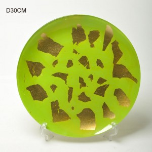 Multi-color Abstract Patterns Glass Plates