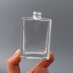 30ML Portable Square Glass Spray Perfume Bottle