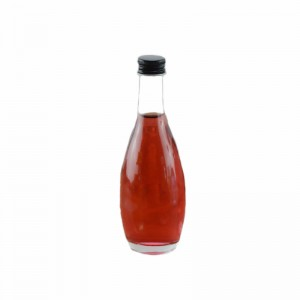 100ML Bevelled Edge Glass Liquor Bottle