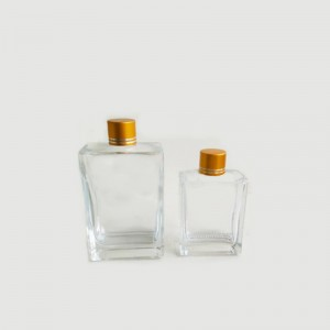 Flat Square Glass Liquor Bottle