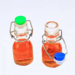 60ML Portable Swing Top Glass Liquor Bottle