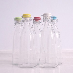 Swing Top Glass Bottle with Rubber Stopper