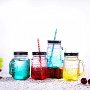 Multi-color Mason Jar Mug