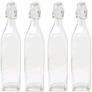 Swing Top Glass Bottle with Plastic Stopper