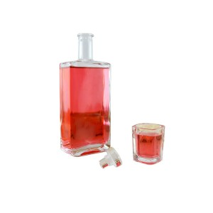 Square Glass Liquor Bottle