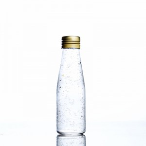 Glass Bottle Jar with gold screw cap