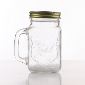 Glass Mason Mugs with Handle