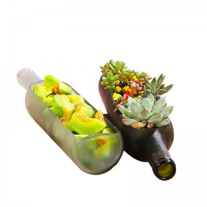 Glass Deco Wine Bottle Vase