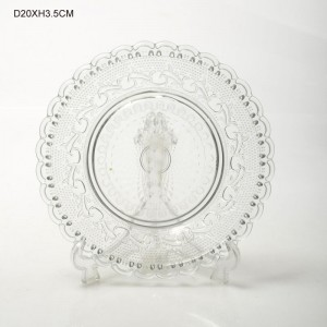 Round Colorless Glass Plates