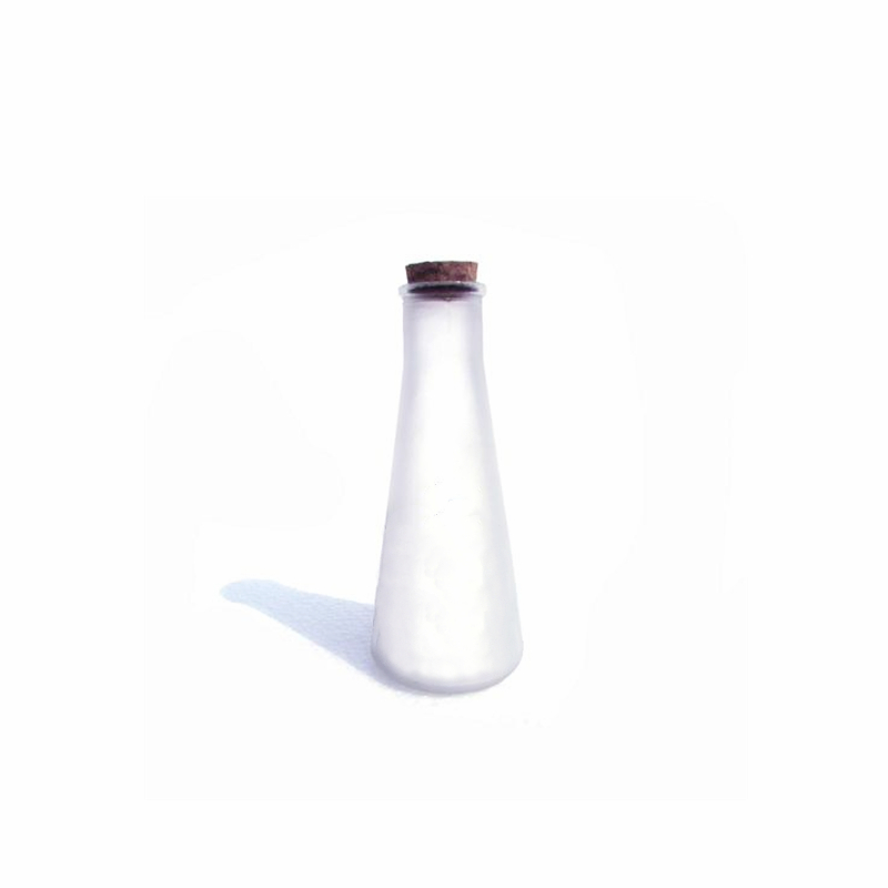 Cone Glass Beverage Bottle with Cork Stopper Featured Image