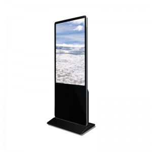 floor stand lcd display touch screen indoor android advertising tv information totem retail digital signage