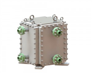 Cross flow HT-Bloc heat exchanger