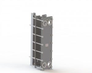 Free flow channel Plate Heat Exchanger