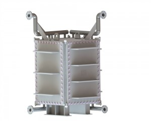HT-Bloc heat exchanger with wide gap channel