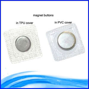 Waterproof sumaku Button