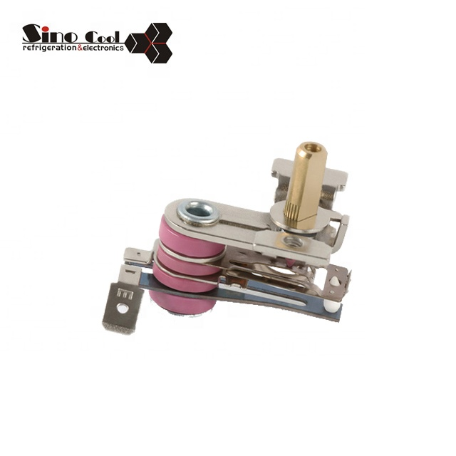 Adjustable thermostat for electric oven parts