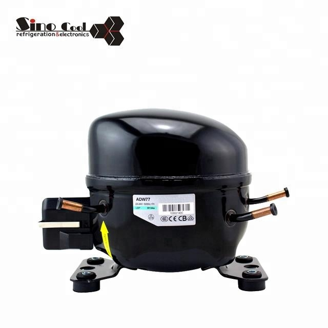 Chinese factory supply R134a Series ADW77 refrigerator compressor for refrigerator